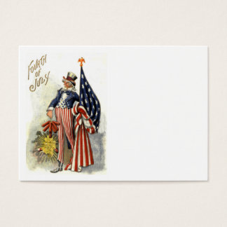 Uncle Sam US Flag Fireworks Firecracker Business Card