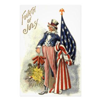 Uncle Sam US Flag Fireworks Firecracker Photo Print