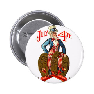 Uncle Sam USA Flag 4th of July Patriotic Vintage Pins