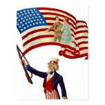 Uncle Sam USA Flag 4th of July Patriotic Vintage Post Card