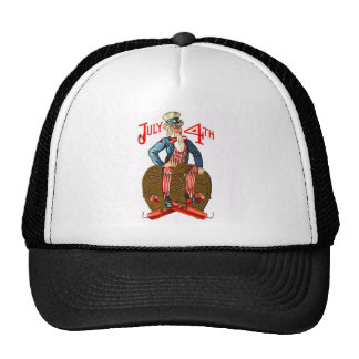 Uncle Sam USA Flag 4th of July Patriotic Vintage Trucker Hat