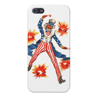 Uncle Sam USA Vintage 4th of July Postcard Art Cover For iPhone SE/5/5s