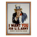 Uncle Sam Vintage Recruiting Poster