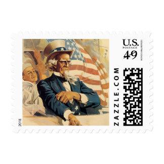 Uncle Sam vintage Stamp