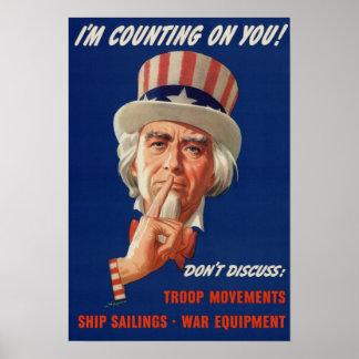 Uncle Sam Vintage War Poster
