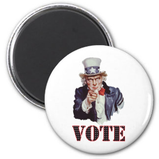Uncle-Sam---Vote 2 Inch Round Magnet