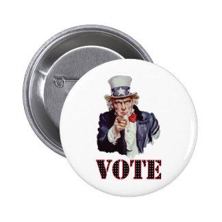 Uncle-Sam---Vote Pins