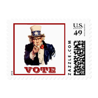 Uncle Sam Vote Postage Stamp