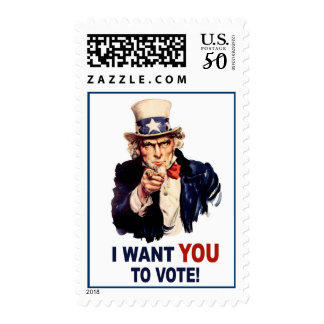 Uncle Sam Vote stamps