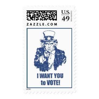 Uncle Sam Vote stamps