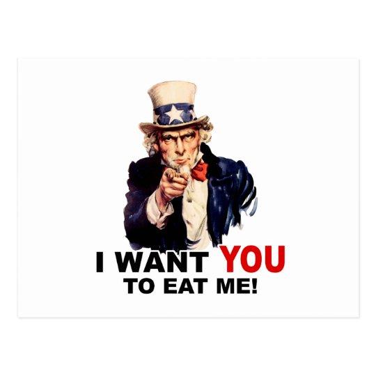 Uncle Sam WANT YOU EAT ME Postcard