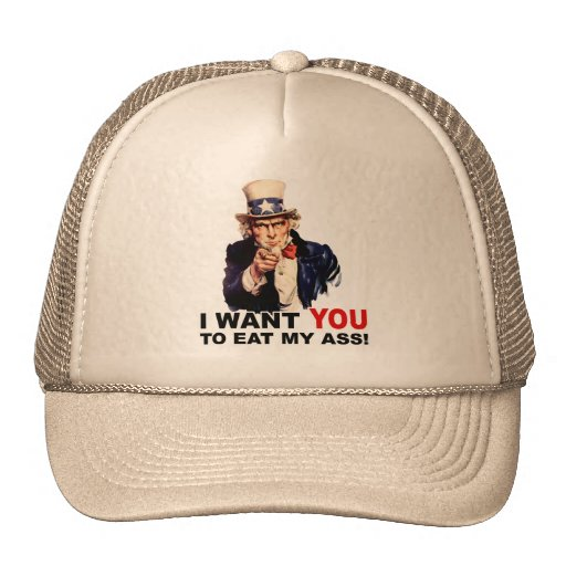 Uncle Sam WANT YOU EAT MY ASS Trucker Hat