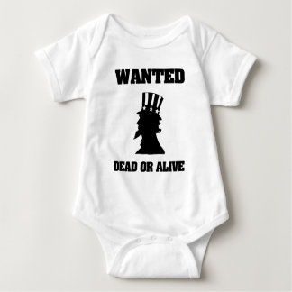 Uncle Sam Wanted Dead Or Alive Baby Bodysuit