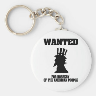 Uncle Sam Wanted For Robbery Keychain