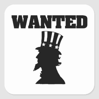 Uncle Sam Wanted Square Sticker