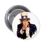 Uncle Sam Wants You! 2 Inch Round Button