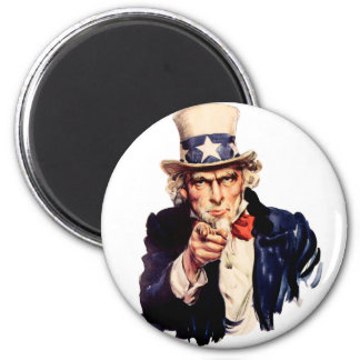 Uncle Sam Wants You! 2 Inch Round Magnet