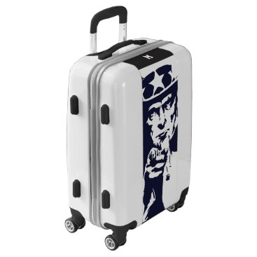 USA Themed Uncle Sam Wants You. Blue Silhouette. Patriot. Luggage