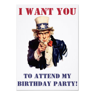 Uncle Sam wants you! Card