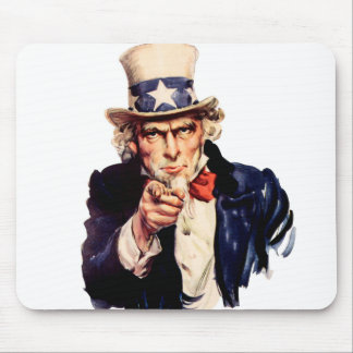Uncle Sam Wants You! - Customized Mouse Pad