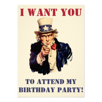 Uncle Sam wants you! Invite