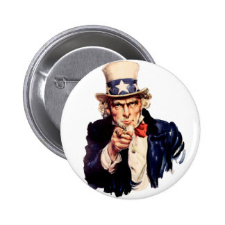 Uncle Sam Wants You! Pinback Button