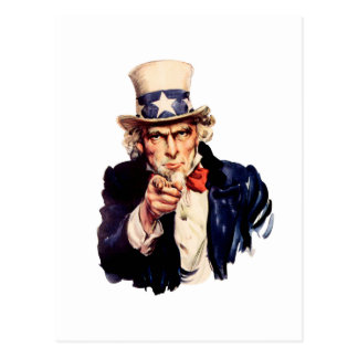 Uncle Sam Wants You! Postcard