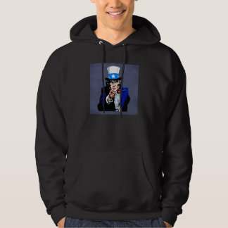 Uncle Sam Wants You Red White Blue Patriotic Hoodie