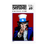 Uncle Sam Wants You Red White Blue Patriotic Stamps