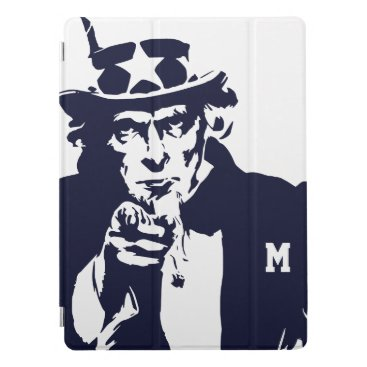 USA Themed Uncle Sam Wants You. Silhouette. Patriot. iPad Pro Cover