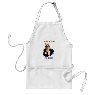 Uncle Sam wants you to BBQ! Adult Apron