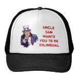 Uncle Sam Wants YOU to be Bilingual Trucker Hat
