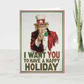 Uncle Sam wants YOU to have a Happy Holiday Cards