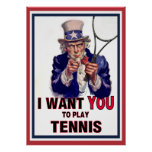 Uncle Sam Wants You to Play Tennis! Poster