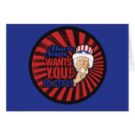 Uncle Sam wants you to STFU Greeting Cards