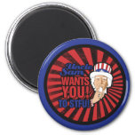Uncle Sam wants you to STFU Refrigerator Magnets