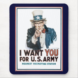 Uncle Sam Wants You World War 2 Mouse Pad