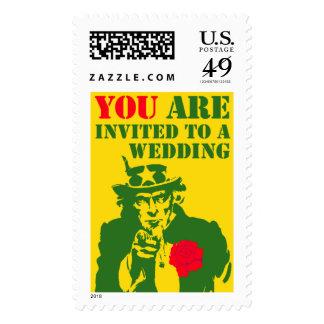 Uncle Sam Wedding Invitation Postage