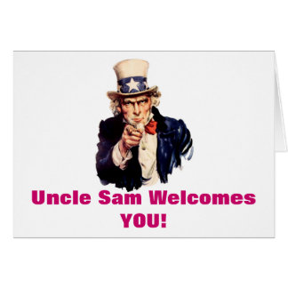 Uncle Sam Welcomes You card