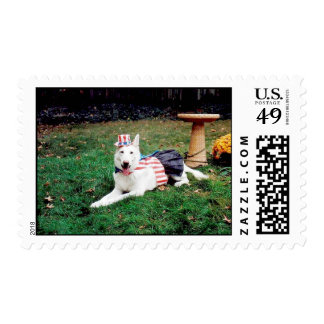 Uncle Sam White Shepherd Postage