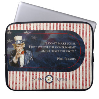 Uncle Sam - Will Rogers Laptop Sleeve