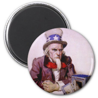 Uncle Sam With An  Empty Treasury Refrigerator Magnets