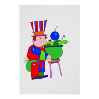 UNCLE SAM WITH BOMB POSTER