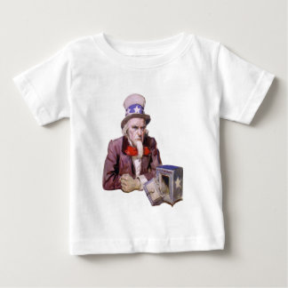 Uncle Sam With Empty Treasury Baby T-Shirt