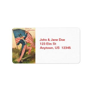 Uncle Sam with Flag Vintage Address Labels