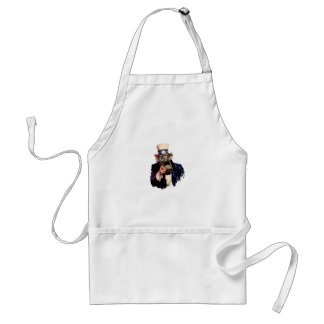 Uncle Sam - With Gas Mask!  Zombie Apocalypse! Aprons