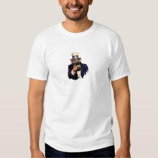 Uncle Sam - With Gas Mask!  Zombie Apocalypse! Shirt