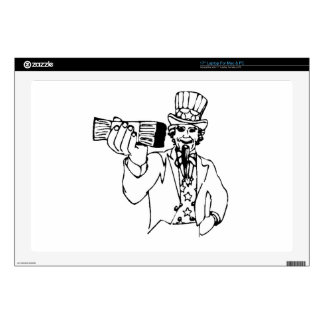 Uncle Sam With Money Decal For Laptop
