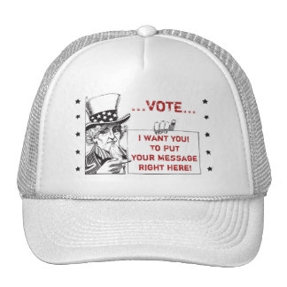 Uncle Sam with Sign - Customize It Trucker Hat