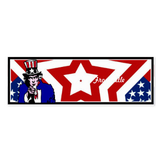 Uncle Sam with Stars & Stripes Background Business Cards